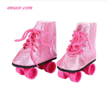 Baby Dolls Shoes Newborn Fashion White Purple Roller Skates for Kids Online Shopping Pulley Shoes