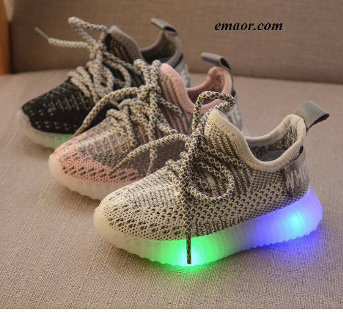 Led Light Glowing Shoes For Girl's Boy's Baby Shoes Children's Glowing Sneakers Kids Led Iuminous Shoes