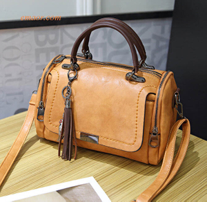 New Arrival Fashion Woman Bag Shoulder Bag for Ladies Retro PU Leather Handbag Female Tassel Zipper Crossbody Bags