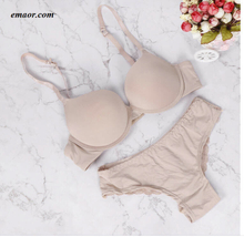 Lingerie Women Underwear Solid Brand Bra Thong Sets Sexy Plus Size Lingerie