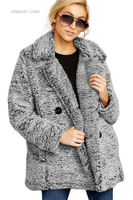 China Wholesale Double-breasted Lapel Plush Jacket on Sale