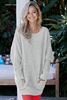 Wholesale Winter Break Knit Tunic Sweater Outerwear for Women on Sale