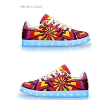 Light Up Gym Shoes Aliume Fractal-APP Controlled Low Top LED Shoes Flashing Trainers on Sale