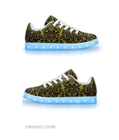 Led Shoes Amazon Aquanautic-app Controlled Low Top Led Shoes Cool Light Up Zeppelin Sneakers