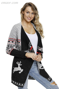 Outerwear Affordable Big And Tall Outerwear Ambiance on Sale Blocked Christmas Cardigan Best Girl Outerwear
