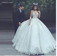 Wedding Dresses Lace V Neck Lace Up Back Bridal Plus Size Dresses