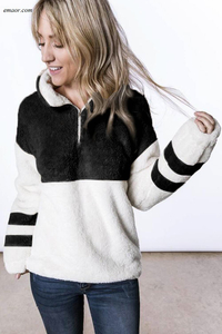 Wholesale Affordable Zipped Pullover Sweatshirt Outwear on Sale