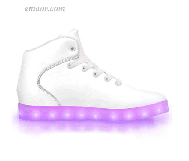 All Light Up Shoes fashion Light Up Shoes White Out -App Controlled High Top LED Shoes Led Light Up Trainers