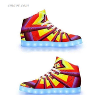 Lighted Tennis Shoes Aliume Fractal-APP Controlled High Top LED Shoes Walmart Led Shoes