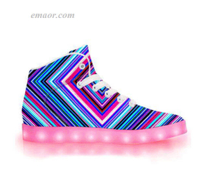 Led Light Sneakers Illusion-APP Controlled High Tops LED Walk Shoes