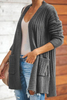 Picture Outerwear on Salehigh Visibility Outerwear Long Sleeve Cardigan with Pocket Outerwear for Formal Dresses Outerwear