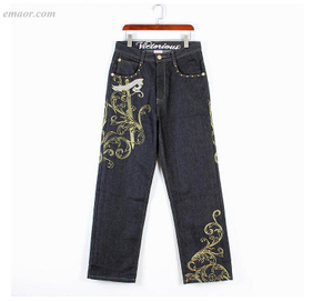 European Embroidery Jeans Best HIPHOP Dance Casual Baggy Plus-size Skateboard Pants Cheap Madewell Jeans on Sale