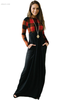 Hot Buffalo Print Top Long Maxi Dress on Sale