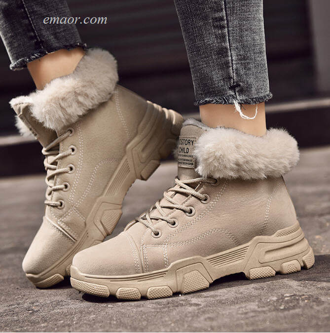 Winter Snow Boots Women's Snow Boots Winter Fur Ankle Booties Girls Winter Boots