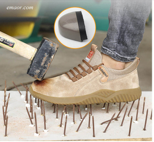 Safe Step Slip Resistant Shoes Safety Shoes Men's Breathable Anti-smashing And Anti-penetration Safe Protection Work Shoes Hiking Safety Shoes