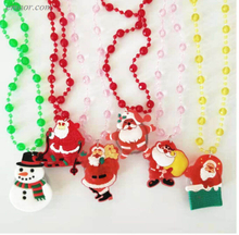 Led Christmas Necklace Colorful LED Christmas Shining Soft Silcone Necklace Led Christmas Necklace