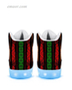 Hot Light Up Shoes Rasta-APP Controlled High Top LED Up Shoes Light Up Sneakers Walmart