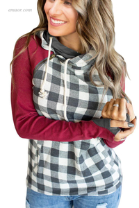 Best Affordable Sweatshirts & HoodiesRed Gingham Hoodie on Sale