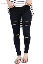 Fashion Distressed Front Best Stretch Denim Pants Online