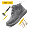 Fashion Safety Shoes Anti-Puncture Working Shoes Man Safety All In One Safety Boots Shoes Beauty & Health Safety Work Boots