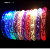LED Flashing Bracelet Light Up Bar Chiristmas Luminous Bracelet Flash Bracelet on Sale