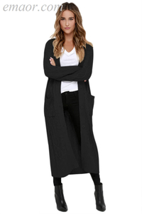 Outwear Wholesale Fashion Clothing Cable Knit Long Cardigan Cable Knit Cardigans Outwear