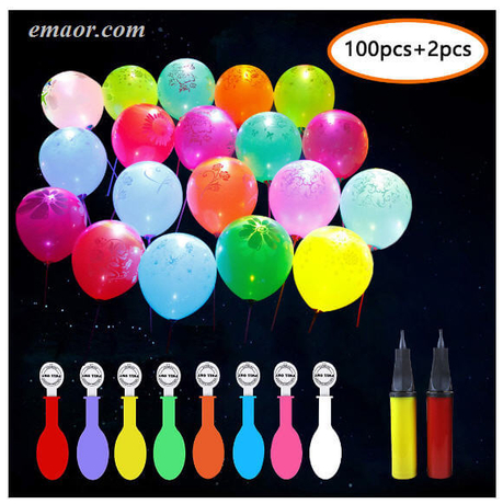 100Pcs Led Balloons Flashing Kids Luminous Toys Led Light Up Balloons