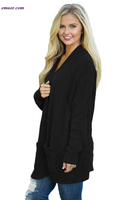 Wholesale Knit CardigansTexture Long Cardigan Cheap Women's Petite Outerwear on Sale