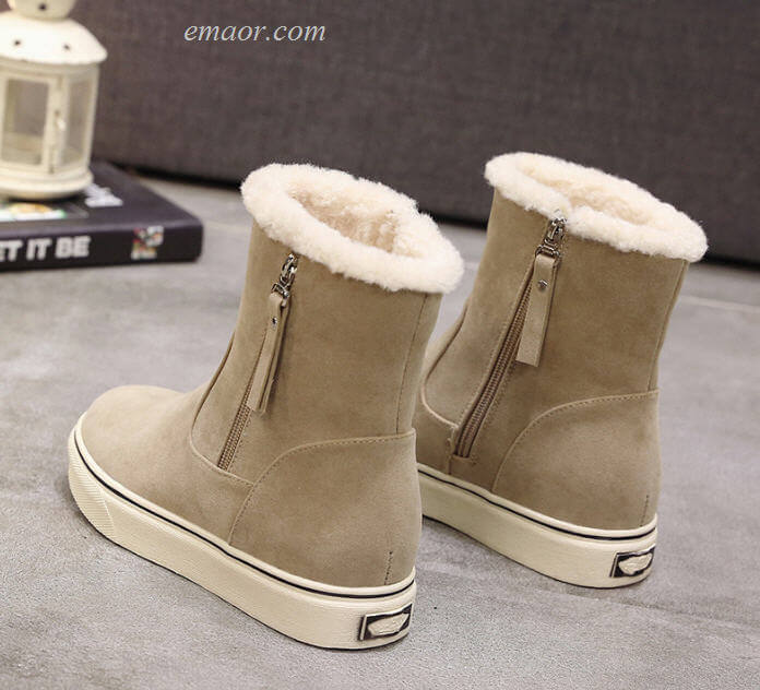 Women's Winter Boots New Snow Boots Flat Lace Up Winter Platform Ladies Warm Shoes Winter Snow Boots