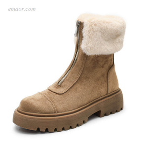 Women's Winter Boots Women's Snow BootsWarm Winter Zipper Flat With Women Shoes Best Winter Boots for Women