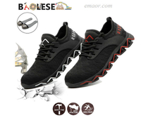 Safe Step Slip Resistant Shoes Anti-smashing Lightweight Safety Footwear Men's Work Shoes Safe Step Shoes Online Hiking Safety Shoes
