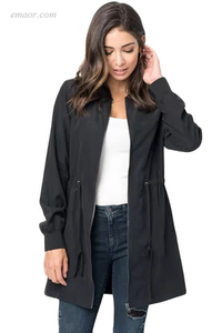 Ladies Outerwear Canada Drawstring Waist Lightweight Outcoat Ladies Summer Outerwear Vests