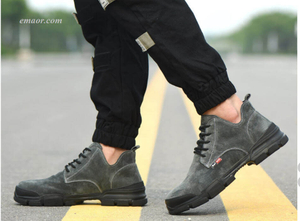 Fashion Man's Safety Shoes Toe Steel Breathable Work Safety Boot