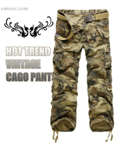 Hot Sale Me'n Cargo Pants Camouflage Trousers Military Pants
