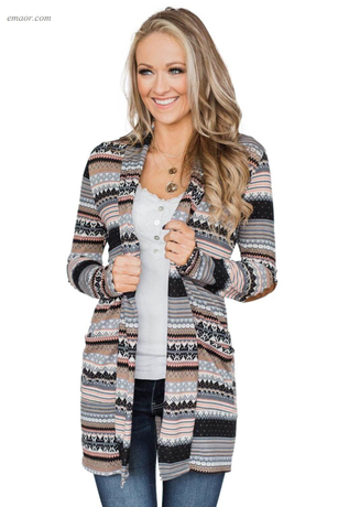 Winter Outerwear Fashion Wholesale Women's Outerwear Multicolor Unforgettable Printed Cardigan Coat