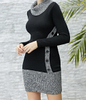 Wholesale Fashion Dresses Button Front Sweater Dress Knit Dress on Sale