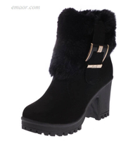 Woman's Western Boots Square Heel Women Winter Shoes Pretty Boots on Sale